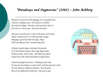 Read & Write Poetry ~ Grammar & Paradox + Oxymoron Practice!