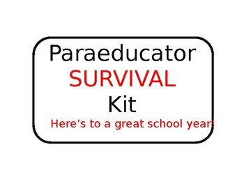 Paraeducator Kit
