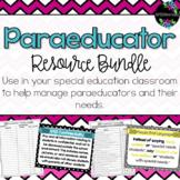 Special Education Paraeducator Resource Bundle