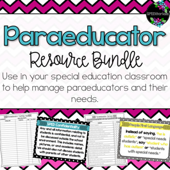 Paraeducator Resource Bundle