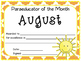 Paraeducator of the Month Awards (August - June)
