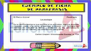 Paráfrasis, Ficha y Cita Textual