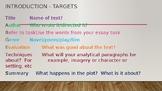 Paragragh Structure for Literature Study