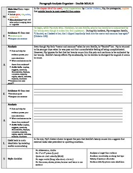 Paragraph Analysis Organizer (MEALS)