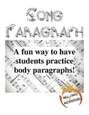Paragraph Assignment to Interpret Songs