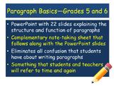 Paragraph Basics—Grades 5 and 6