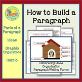 Paragraph Writing Graphic Organizer, Writing Prompts and Rubric