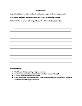 Paragraph-By-Paragraph Argument Essay Packet (Step-Up Aligned)