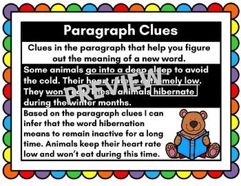 Paragraph Clues Anchor Chart