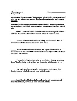 Paragraph Coherence Activity