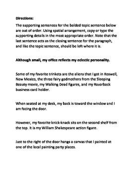 Paragraph Coherence Using Spatial Arrangment Paragraph Scramble