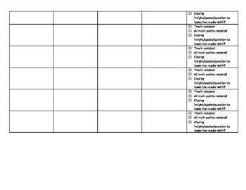 Paragraph Cohesion Revision Form