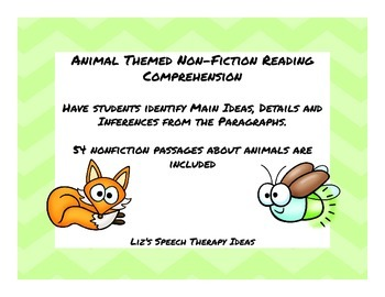 Paragraph Comprehension - Questions, main idea, details and inferences