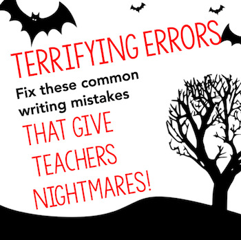 Paragraph Correction--Writing Activity for Halloween