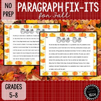 Paragraph Correction (Fix-It Paragraph)