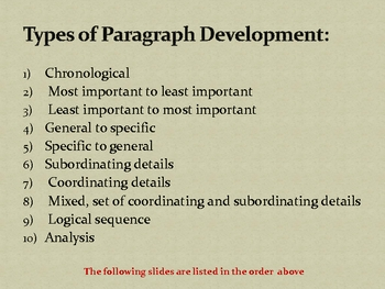 7 types of paragraph development