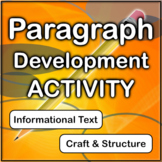Paragraph Development Writing Activity