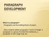 Paragraph Development Lesson