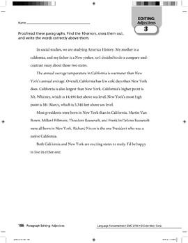Paragraph Editing: Adjectives
