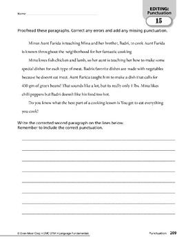 Paragraph Editing: Capitalization & Punctuation