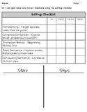 Paragraph Editing Checklist