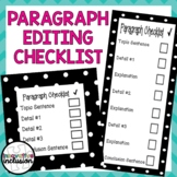 Paragraph Editing Checklist (2 Levels and 7 Color Options!)
