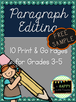 Paragraph Editing Freebie for Grades 3-5