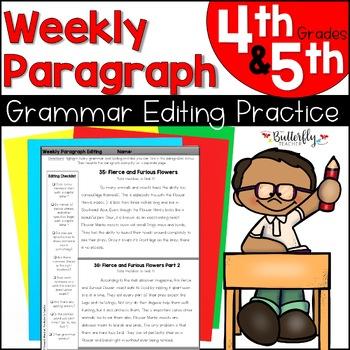 Paragraph Editing: NO PREP Weekly Paragraph Editing   Non-Fiction Paragraphs