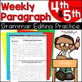 Weekly Paragraph Editing 4th Grade   Google Slides + No-Pr