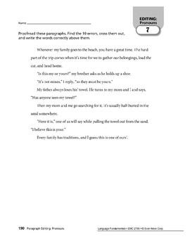 Paragraph Editing: Pronouns