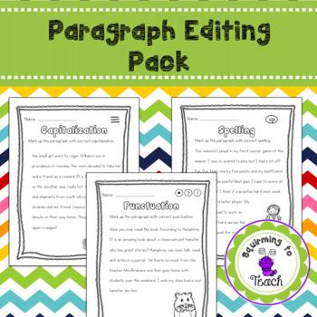 Paragraph Editing Sheets