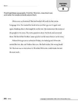 Paragraph Editing: Verbs & Adverbs