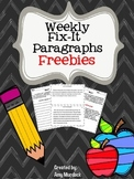 Paragraph Editing - Weekly Fix It Paragraphs Freebie
