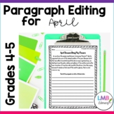 Distance Learning April Writing: Paragraph Editing Workshe