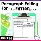 An Entire Year of Editing Paragraph Exercises with Answers