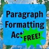 Paragraph Format Noticing Activity