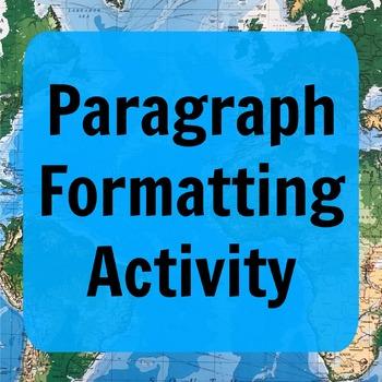 Paragraph Formatting Noticing Activity
