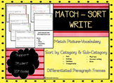 Leveled Paragraph Frames with Corresponding Picture Vocabu