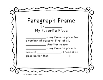 Paragraph Frames: Supporting Emergent Writers
