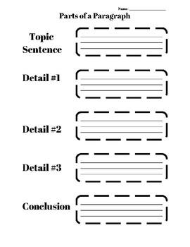 Paragraph Graphic Organizer