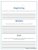 Paragraph Graphic Organizer - Beginning, Middle, End