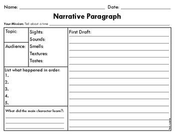 Paragraph Graphic Organizer Bundle