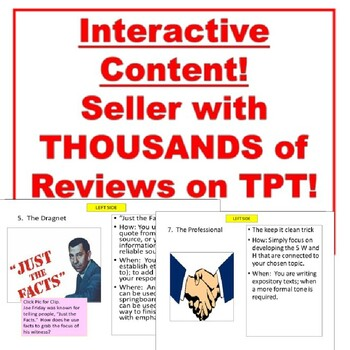 Paragraph Hooks and Starters: Notes, Activities, Writing