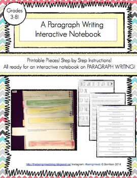 Paragraph Interactive Note with Stop-Light Colors!