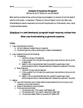 Paragraph-Length Analysis of Suspense - Sonata for Harp an