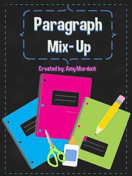 Paragraph Mix Up! Sequencing Main Idea & Details Paragraph Sort w/ Task Cards!