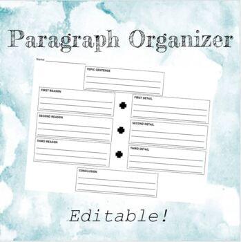 Paragraph Organizer by Ashleigh Davila | Teachers Pay Teachers