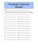 Paragraph Organizer Booklet