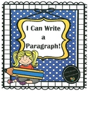 """""""I Can Write a Paragraph"""" Graphic Organizer Flip Chart"""