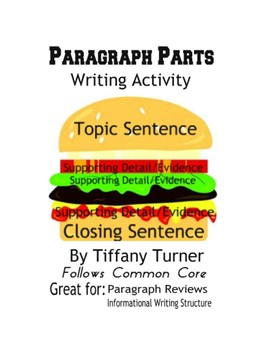 Paragraph Parts Individual Packet